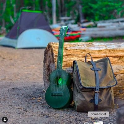 Outdoor Ukulele tenor green nickel
